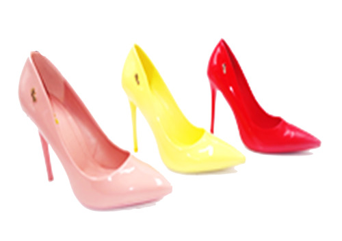 Ladies' Plum Peep Toe Heels 3 Colours (PU460)