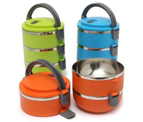3 Layer Lunch Box Stainless Steel