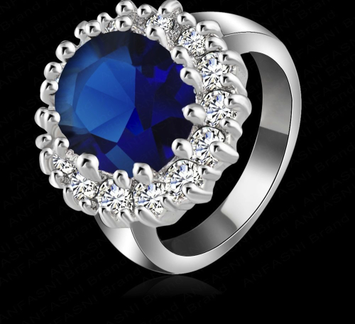 Simulated Sapphire Ring Free Shipping