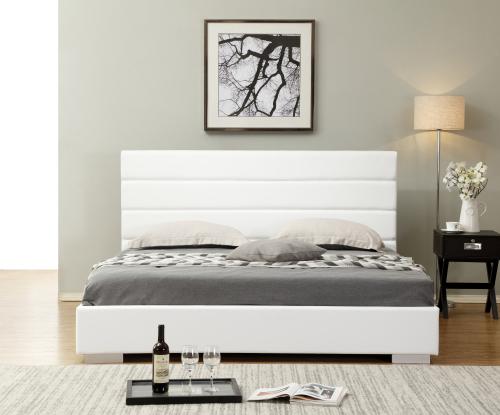 Hazlo Finnegan Faux Leather Bed Base with Headboard