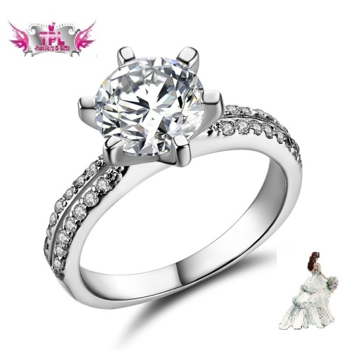 1.78 Ct Simulated Diamond Ring