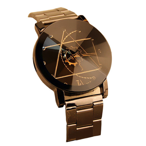 Black Fashionable Luxurious Mens Watch Stainless Steel