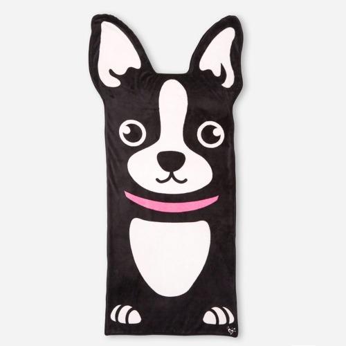 Boston Terrier Dog Sleeping Blanket for Adult and Kids