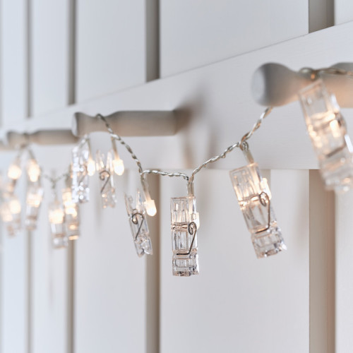 Battery-Operated Photo Clip String Lights