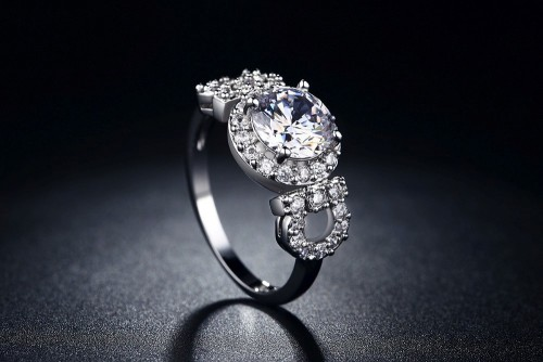 White Gold Filled 2.00ct Simulated Diamond Ring