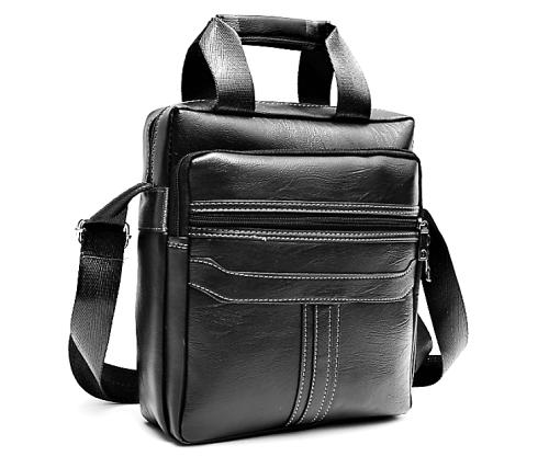 Black Pu Messenger / Shoulder Bag