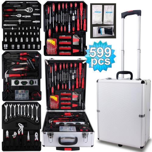 599 Piece Aluminium Case Tool Set