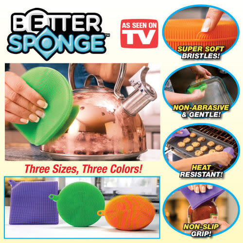 Multi-functional High Quality Silicone Better Sponge