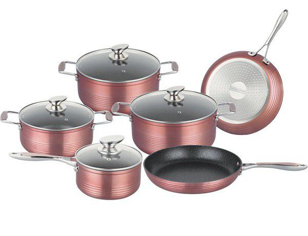 10 Piece Non-Stick Marble Coated Cookware Set