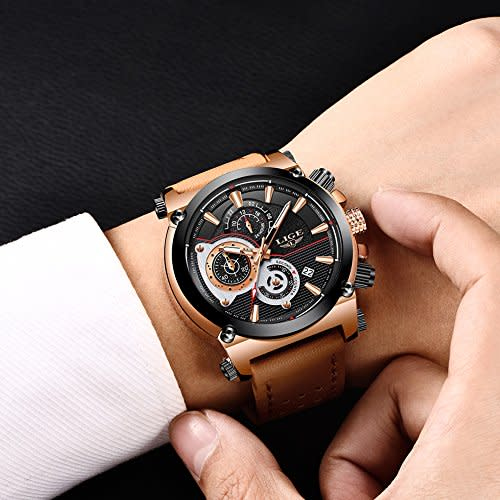 LIGE Men's Sports Watch