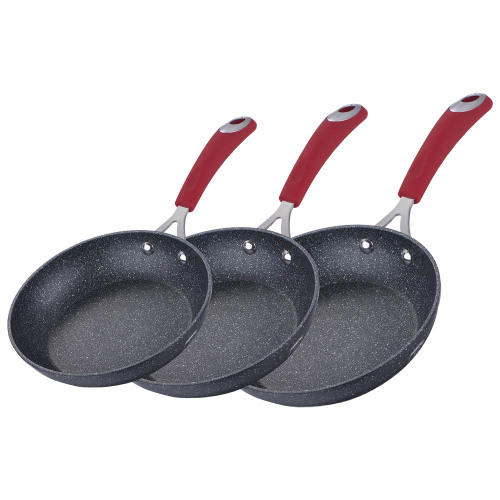 Berlinger Haus 3-Piece Marble Coating Oven Safe Fry Pan Set