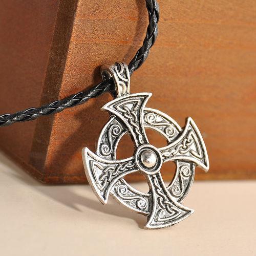 Retro Gothic CrossThemed Pendant Necklace