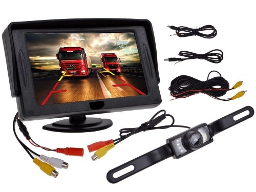 Car Rearview Reverse Backup Camera and 4.3
