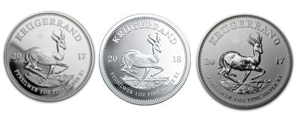 2017 & 2018 1oz Fine-Silver Krugerrand Bundle