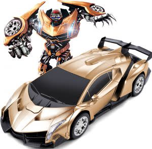 Gold Shadow Fighter Transformation Car