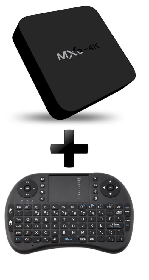 MXQ-4K Android 5.1 Smart TV Box And Wireless Mini Keyboard