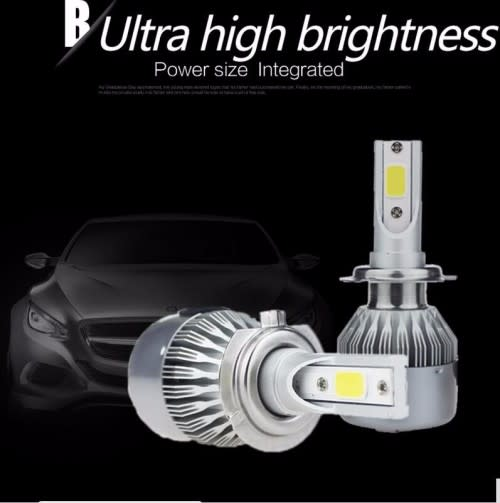 H4 or H7 LED Headlight Bulbs Upgrade Conversion kit