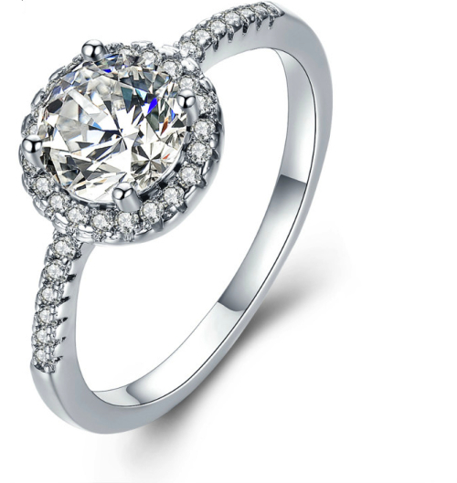 Alluring 2 Carat Simulated Diamond Ring with Accents