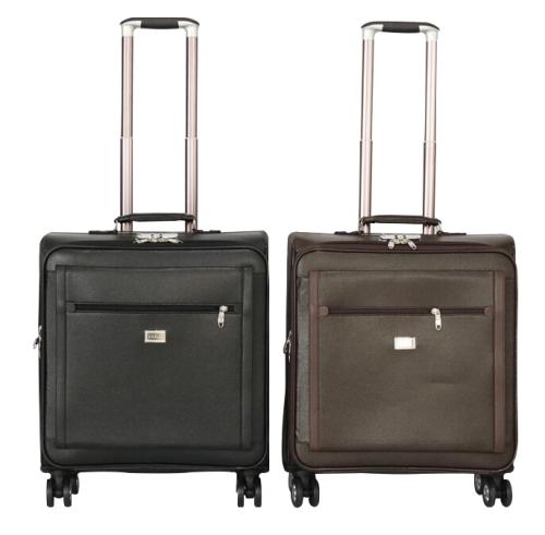 Hazlo Faux Leather Trolley Luggage Bag
