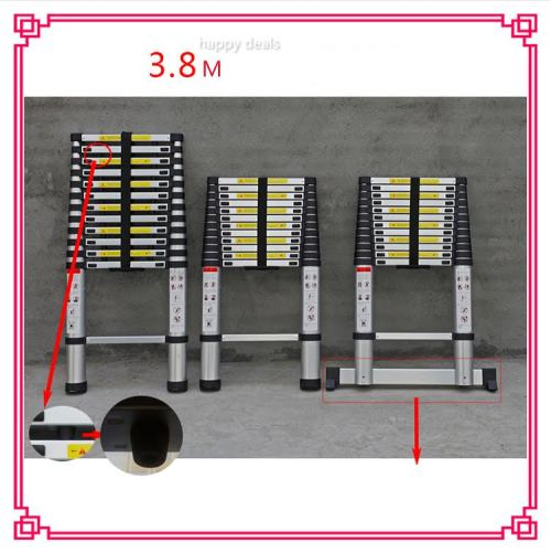 3.8m Straight Portable Telescopic Ladder