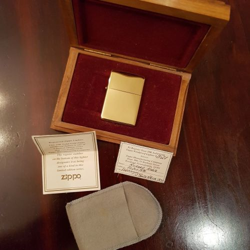 Rare Limited Edition 18ct Gold Zippo Lighter