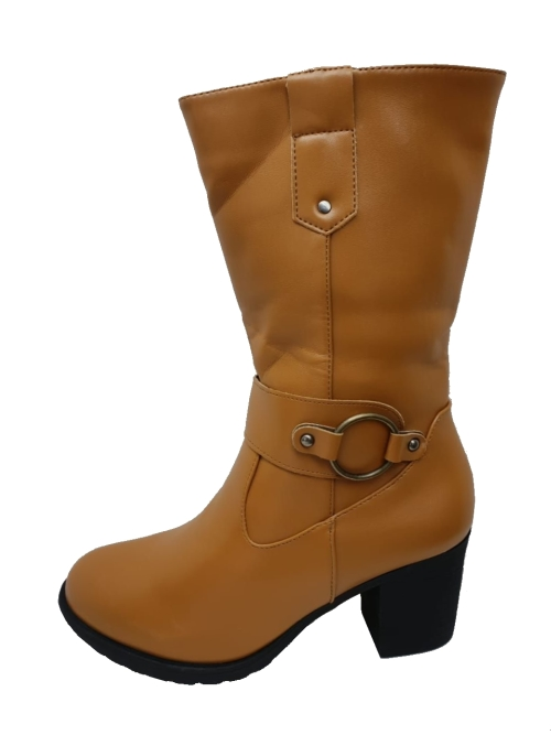 Mid Ankle Heeled Boots