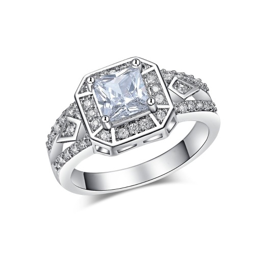 White Gold Filled Simulated Diamond Ring