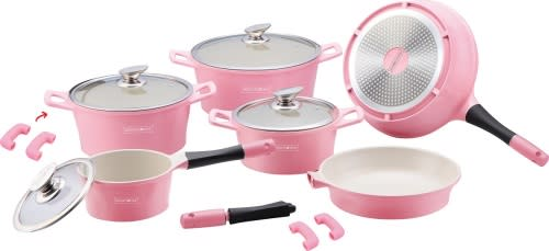 Royalty Line 14-Piece Marble Coating Cookware Set