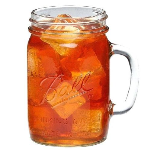 Drinking Mason Glass Jars Set of 4