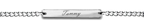 Name Plate Ankle Chain FREE ENGRAVING