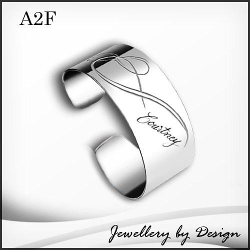 Infinity Cuff Bangle FREE ENGRAVING