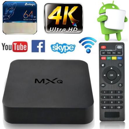 MX-Q 4K Smart Android TV Box (NETFLIX, WIFI, KODI)