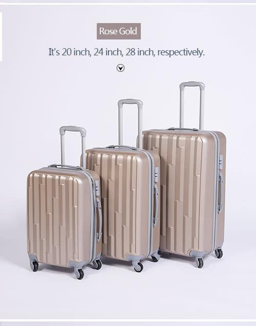 3 Piece Lightweight Luggage Set 20'',24'',28''