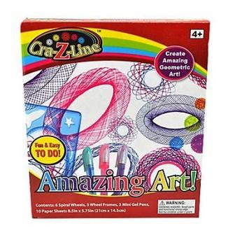 Cra-Z-Line-Art Spiral Amazing Art Kit Drawing Rule Spirograph