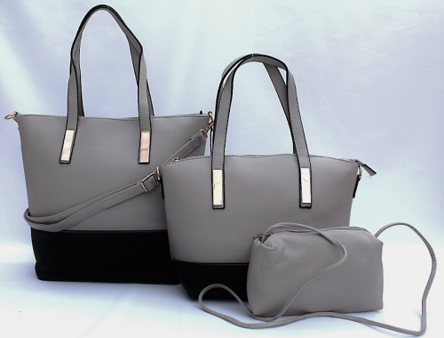 3 Piece Pu Leather Handbag+Shoulder Bag+Purse Set