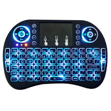 Wireless QWERTY White Backlit 2.4GHz Touchpad Keyboard Air Mouse