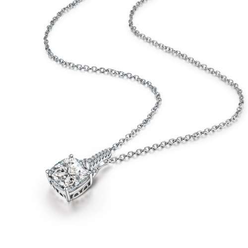 4 Carat Delicately Beautiful Simulated Diamond Necklace