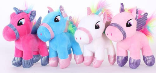 Gorgeous 20cm Stuffed Unicorns Set of 4