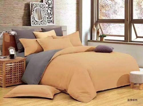 4 Piece Plain Duvet Cover Set Double Bed