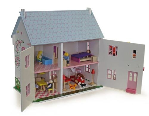 Dolls House Dream Doll Houses Wooden Pink Shutters