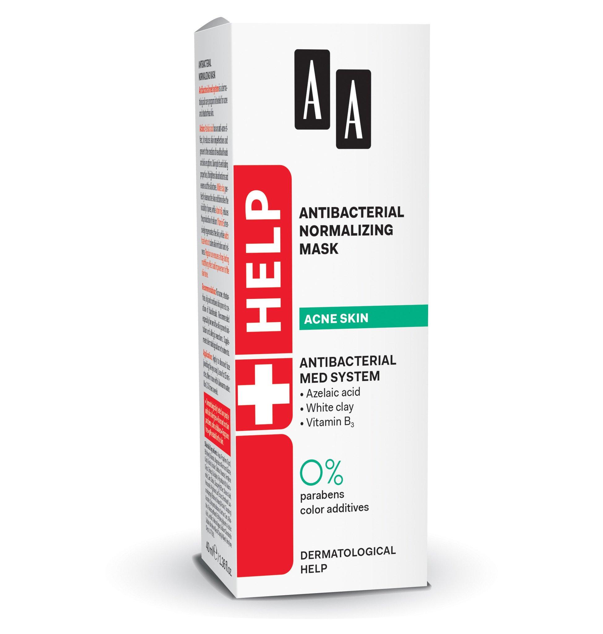 AA HELP Acne Skin Antibacterial Normalising Mask