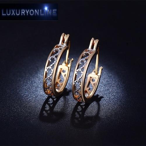 Rose Gold Filled & White Gold Filled Hoop Earrings