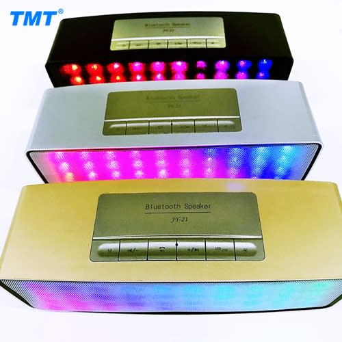 Portable Bluetooth Speaker with Multi-color Light Feature
