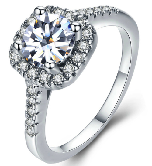 Alluring Simulated Diamond Ring with Accents