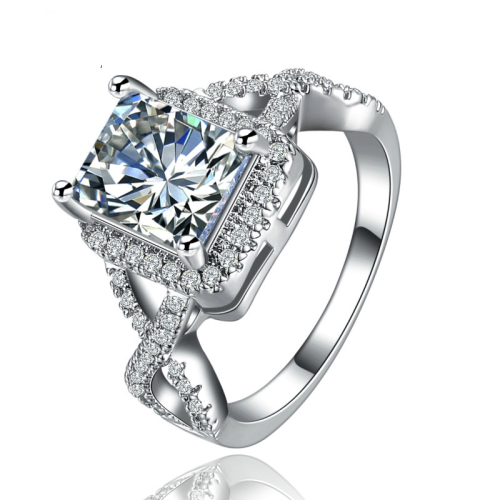 Romantic 2.5 Carat Simulated Diamond Ring with Accents