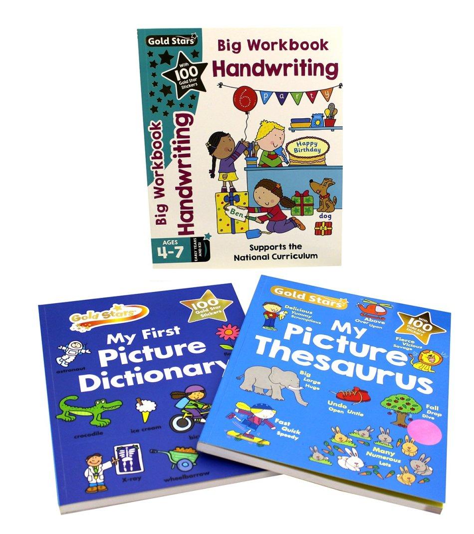 Gold Stars - Picture Dictionary, Thesaurus & Handwriting Workbook