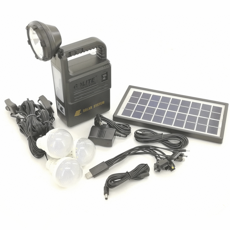 Hand-held LED Torch with Solar Panel Charger