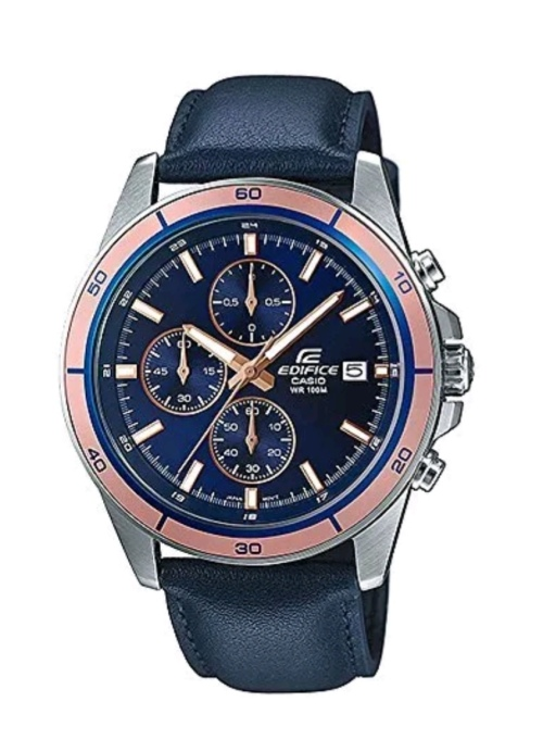 Casio Edifice EFR526L-2A Leather Men's Chronograph