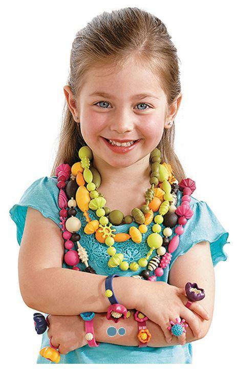 Kids Beads Jewellery DIY Play Set Girls Jewelry