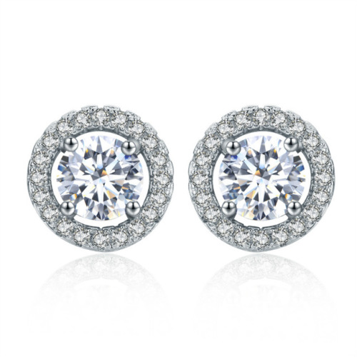 Attractive 6mmx6mm Simulated Diamond Earring